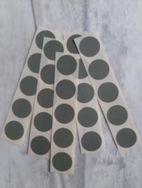 Sticker dot mini rond / rosemary green / 25 stk