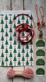 Zakjes Kerstbomen - 15x22cm / 5 stks