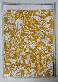 Zakjes botanic garden / curry yellow / Geertje Aalders / 23 x 31 cm