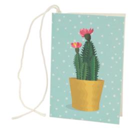 Cadeaukaartje / cactus in pot