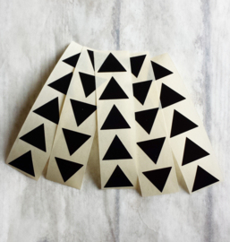 Stickers zwart mini piramide - 25 stk