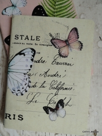 Notebook / Vintage / lemon vlinders