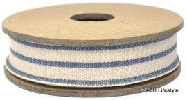 EI 2323 Band 3 meter spoel streep creme blauw