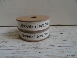 "Lint  - ""because I love you"" | ZA 004 3 meter spoel"