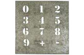 Sjabloon /  Zinken cijfers sjabloon