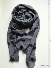 Sjaal / Grijs met stip
