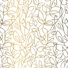 Vloeipapier - tissuepapier | fine fleurs goud | 5 stuks