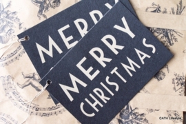 Label Merry Christmas large / pstk / EI 2186A