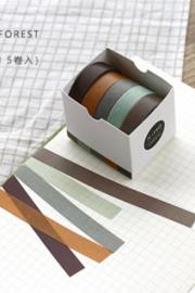 Masking tape / forest / 5stk