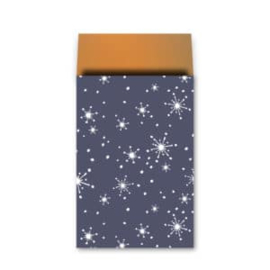 Zakje | reach for the stars - blauw | 12 x19cm | 5 stk