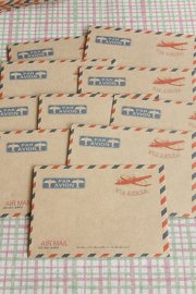 Mini envelopjes - ECO Brown Craft Paper - Avion