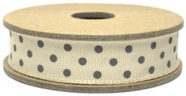 EI 3064 Band 3 meter spoel beige met grijze stippen