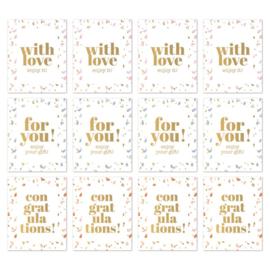 Sticker sluitzegel rechthoekig - sow goud folie | 9stk