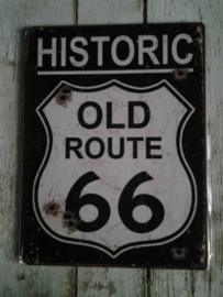 Tekstbordje / Old route 66
