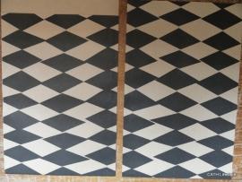 Vlakke zakjes  / Harlequin square zwart / kraft / 5 stk
