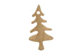 Decoratieve houten boompjes   goud  4stk