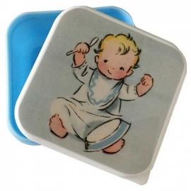 Fruit- snackboxje  / Baby blauw