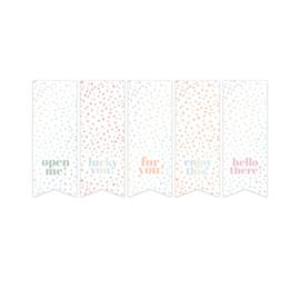 Sticker vaantjes holografisch assorti | sow en grow | 10stk
