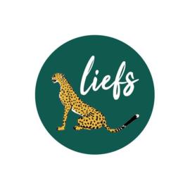 Stickers sluitzegel   luipaard - cheeta groen liefs - 15 stk