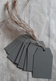 Label - papier grey - 10stk
