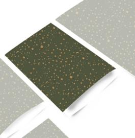 Kado zakjes / Galaxy sterren green  / 17x25cm/ 5 stk