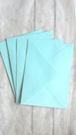 Envelop ijsblauw / pstk