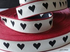 Band - Black Heart | per meter | ZA 097