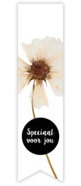 Sticker vaantje label | droogbloem - speciaal voor jou - 10stk