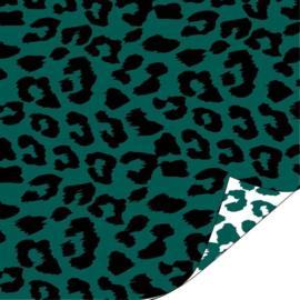 Inpakpapier kadopapier - luipaard groen - 30cmx1m