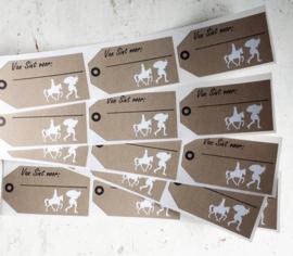 Stickers / Kraft label - van Sint voor... / 15stk