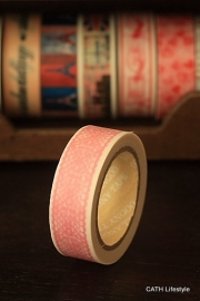 Washi Masking tape  / roze lace