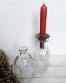 Kandelaar voor op fles stomp - sierrand gold