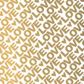 Vloeipapier - tissuepapier - LOVE letters|  50x70cm | 5stk