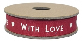 "EI 3134 Band 3 meter spoel ""with love"" rood"