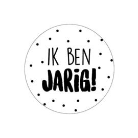 Sticker sluitzegel - Ik ben Jarig | 40mm | 10stk