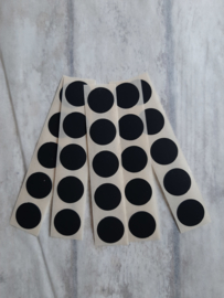 Stickers dots mini rond /  zwart / 25stk