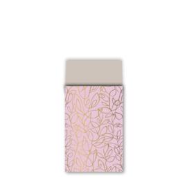 Zakje fine fleur - roze goud zand - 12x19cm - 10 stuks