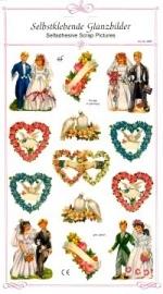 ME 8087 Poezie plaatjes stickers huwelijk
