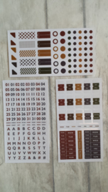 Stickers / basis agenda - planner / retro