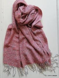 Sjaal / gemêleerd roze