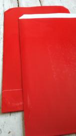 Cadeauzakjes - Rood glans - 5x22cm -5 stuks