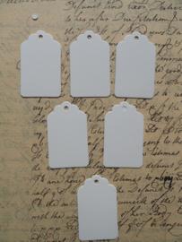 Label / Tag wit 5x3 cm / 20 stks