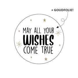 Sticker sluitzegel kerst - may all your wishes - 16 stk