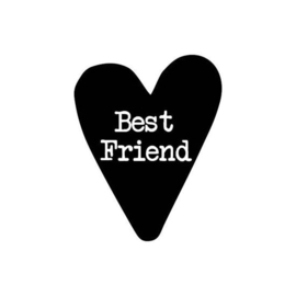 Stickers - hart - best friend - 20 stk