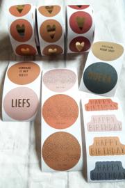 Stickers sluitzegel mix - Multi tekst modern | 55mm | 16stk