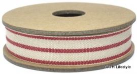 EI 2324 Band 3 meter spoel streep creme rood