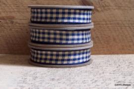 EI 2316 Band 3 meter spoel blauw / creme geruit