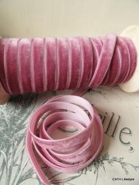 Veloursband / oud roze / pm