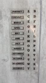 Stickers / maanden vh jaar