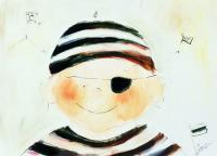 Ansichtkaart - piraat Boris